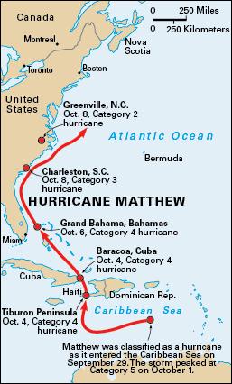 Hurrican Matthew Map : hurrican, matthew, Wrath, Hurricane, Matthew, World