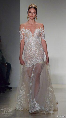 julie-vino-new-york-bridal-week-fall-2016-gorgeous-off-the-shoulder-drop-waist-wedding-dress