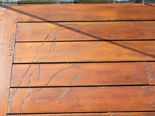Spicers Peak Lodge deck map