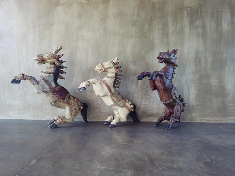 Santani art horses sculpture