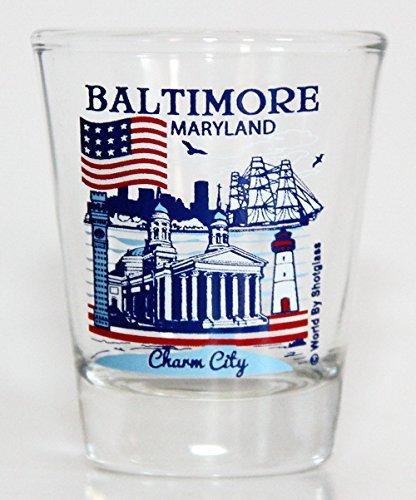 MARYLAND STATE SCENERY BLUE NEW SHOT GLASS SHOTGLASS