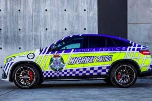 AMG・GLE63クーペがオーストラリアでパトカーに