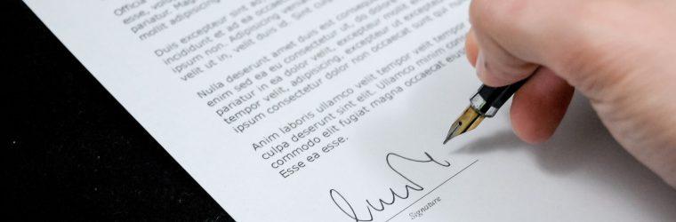 sign pen business document 48195