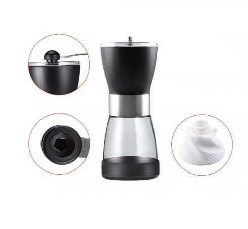 Ручная пластиковая кофемолка с керамическими жерновами