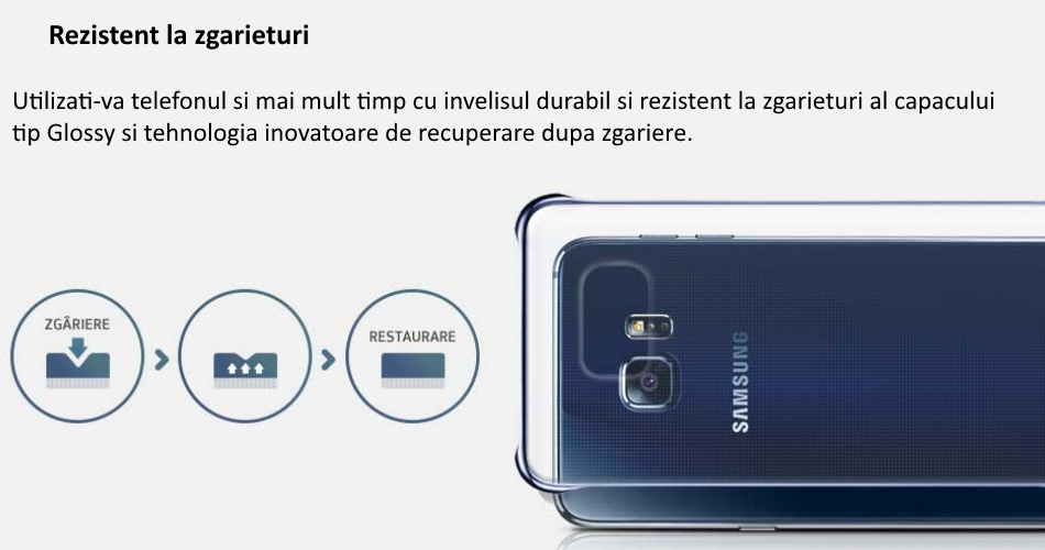 Capac protectie Glossy Cover pentru Samsung Galaxy S6 Edge+ (G928) 1