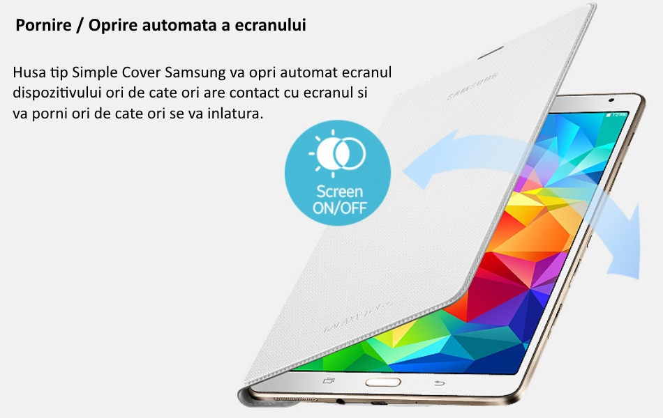 Husa Simple Cover pentru Samsung Galaxy Tab S 8.4 inch 1