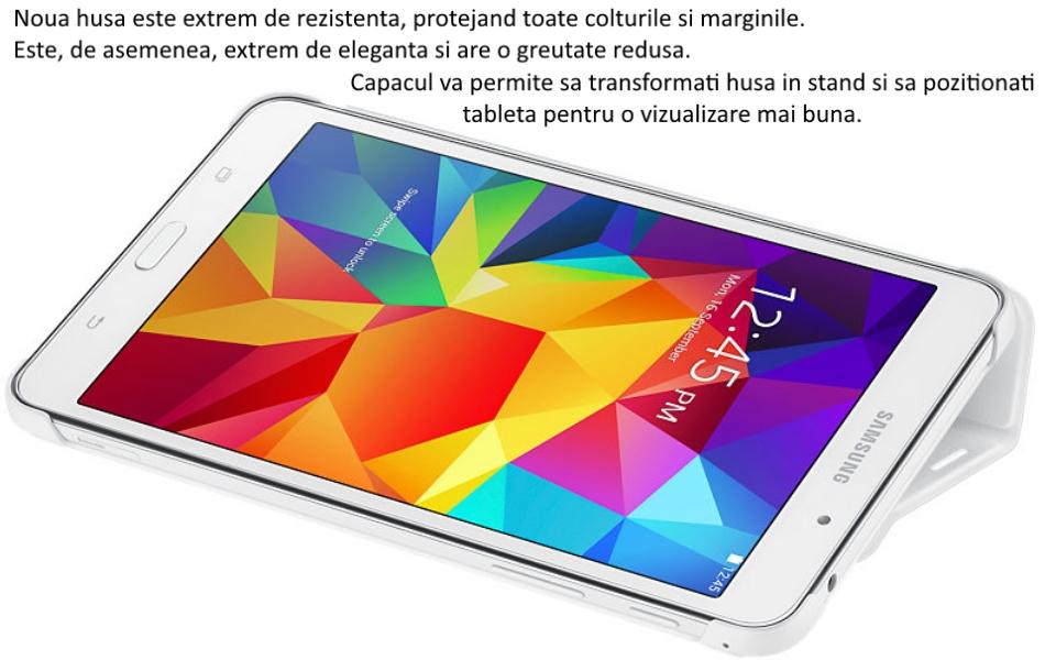 Husa Stand Book Cover pentru Samsung Galaxy Tab 4 7.0 inch .