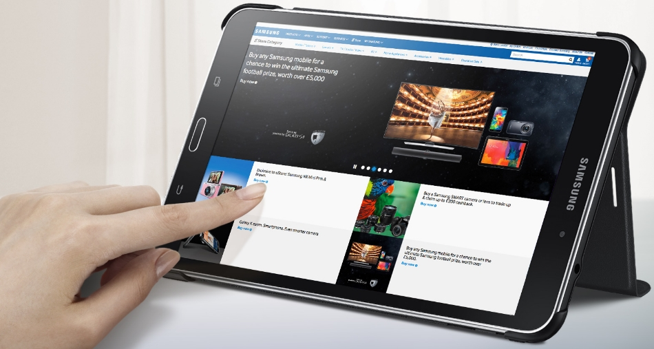 Husa Stand Book Cover pentru Samsung Galaxy Tab 4 8.0 inch