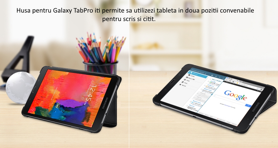 Husa Stand Book Cover pentru Samsung Galaxy Tab Pro 8.4 inch 1
