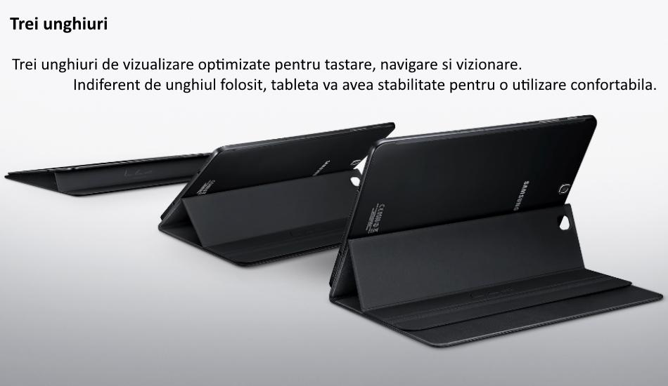 Husa Stand Book Cover pentru Samsung Galaxy Tab S2 9.7 inch 1