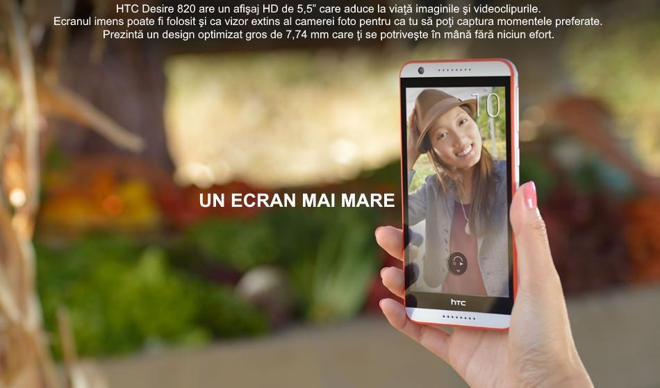Telefon mobil Single SIM HTC Desire 820, 16GB LTE, Dark Grey 2