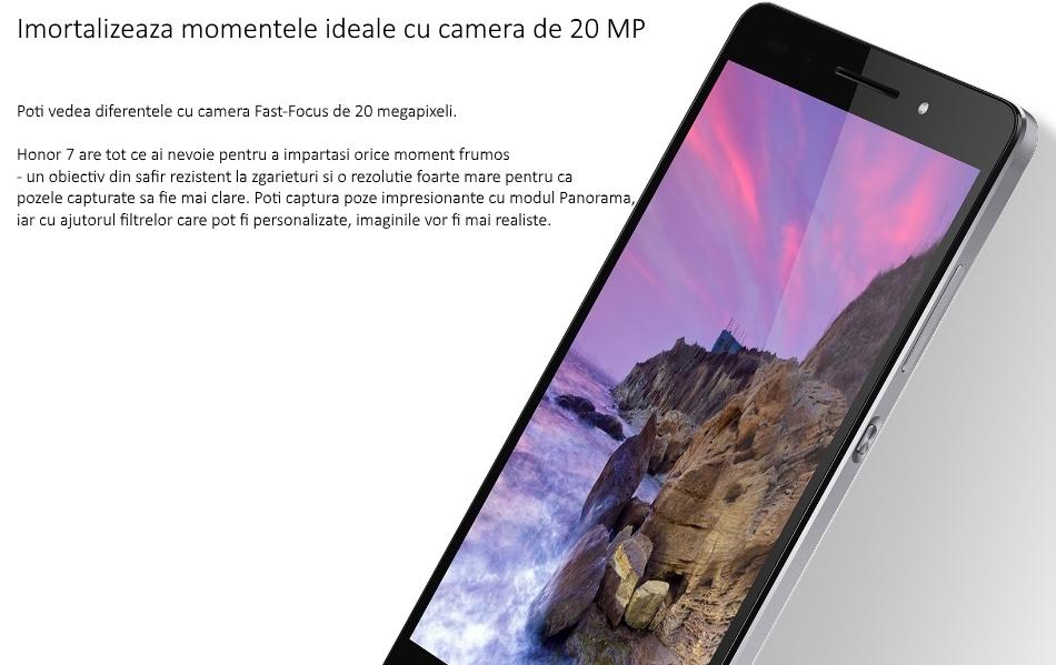 Telefon mobil Dual SIM Honor 7, 16GB + 3GB RAM 1