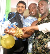 Launch of the Ashanti Vision Centre in Kumasi, Ghana is a great example of advocacy working well to build local eye care capacity for the community. The launch of the vision centre in Ghana was just amazing. At the formal launch after our speeches they conducted a collection and even Chiefs from other areas contributed. Community people gave what little they could. A local businessman drove past, saw the community working on the project and then asked what was happening. He was so moved he came back and donated the first of two computers he is giving the centre. We can preach about true partnerships but this project has got it right: Community, government, the university, with the Institute providing technical expertise and part funding. – Professor Kovin Naidoo, CEO, Brien Holden Vision Institute.