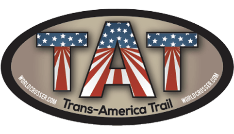 Trans-America Trail Motorcycle Sticker