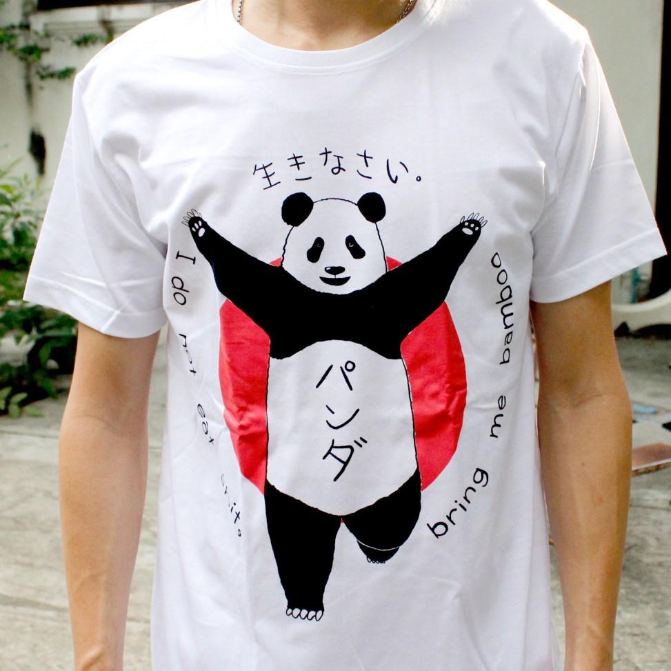 「クリコパンダ」Tシャツ 着用イメージ