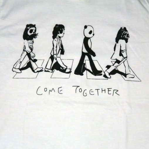 「COME TOGETHERパンダ」Tシャツ イラスト部分