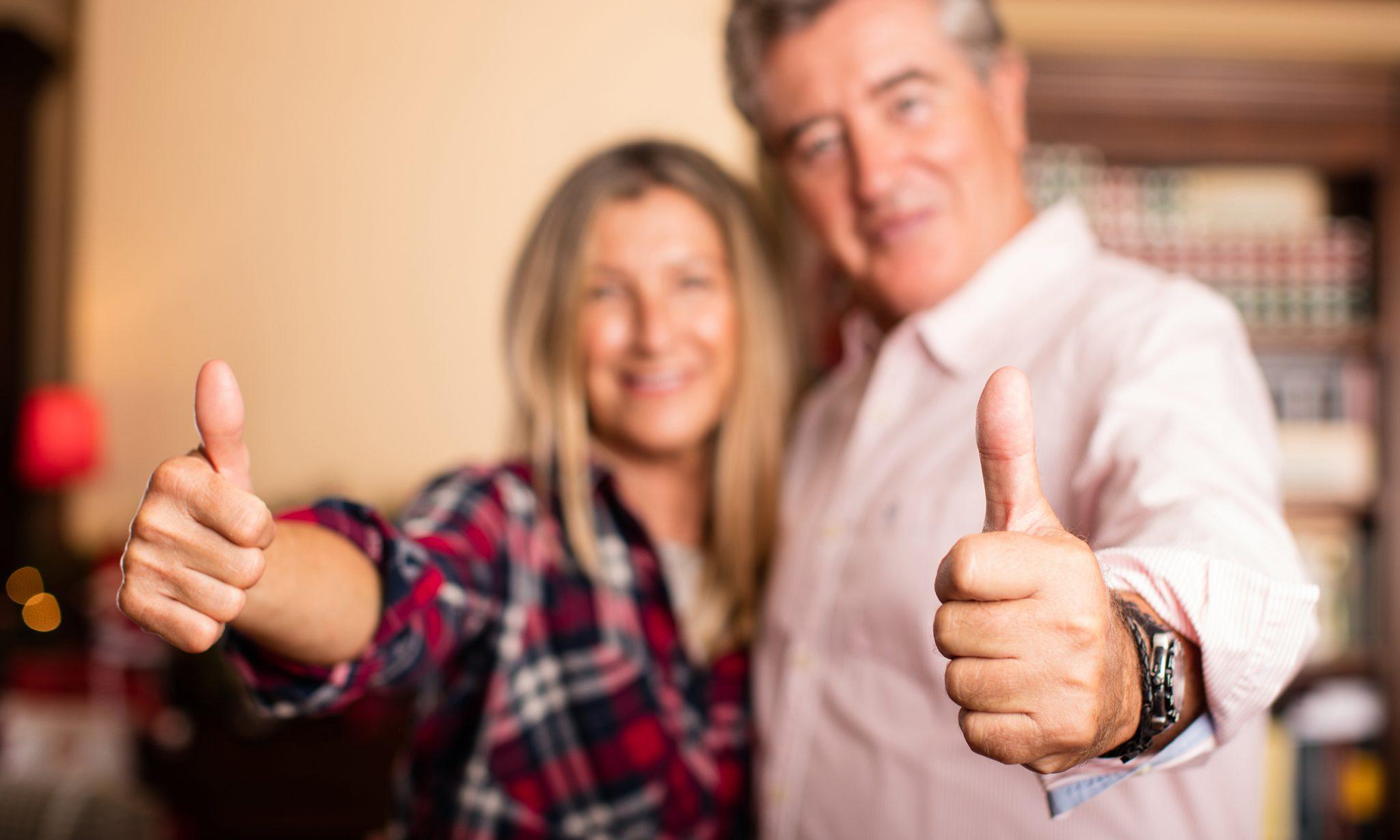 Healthy and Happy Elderly Couple