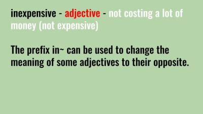 use the adjective inexpensive
