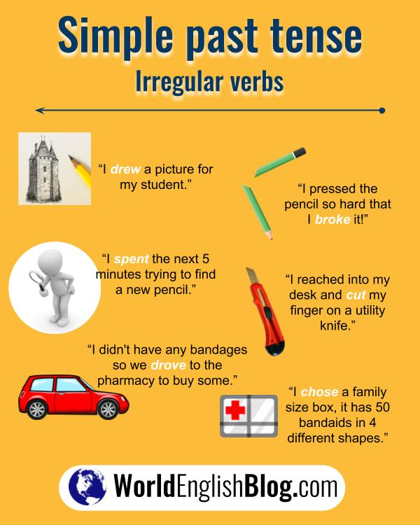 10 more English irregular verb examples
