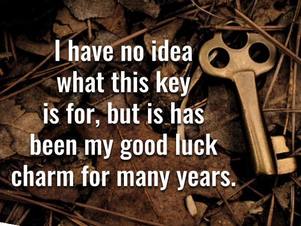 English expressions with LUCK. Good luck charm.
