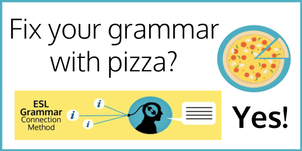 Remember English grammar with pizza!