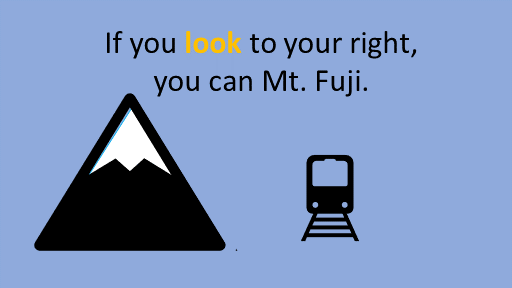 If you look to your right, you can Mt. Fuji. see watch look at pdf