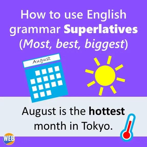 English grammar Superlatives