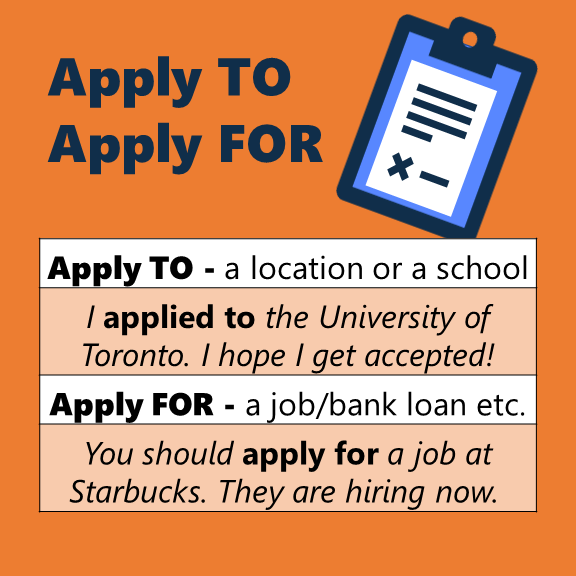 Apply TO or Apply FOR