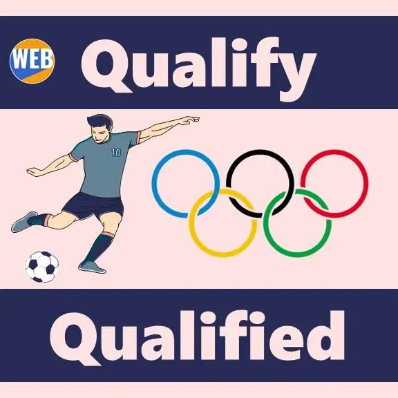 Olympic vocabulary Qualify Qualified