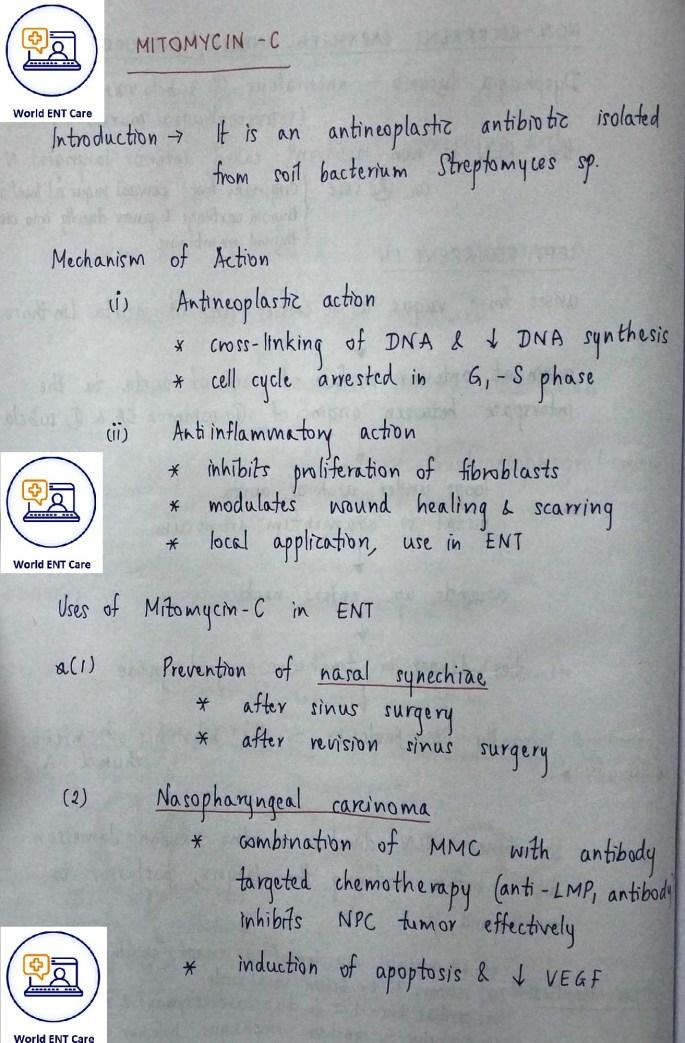 mitomycin c mechanism of action