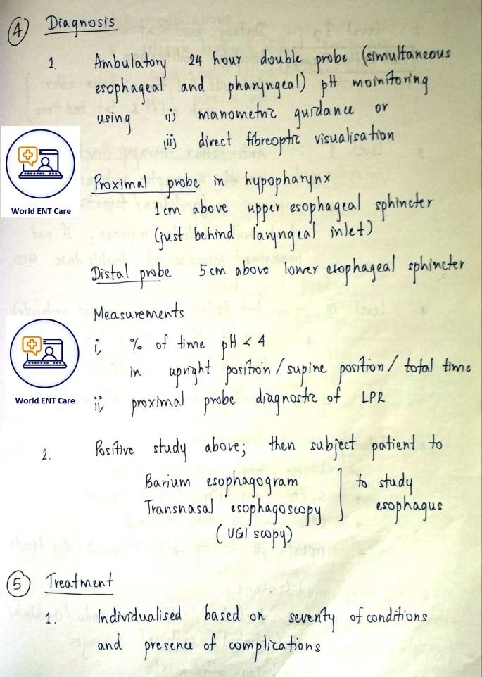 LPR diagnosis