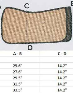 Sizing chart also mattes western round pad correction leather guard brown quilt rh worldequestrianbrands