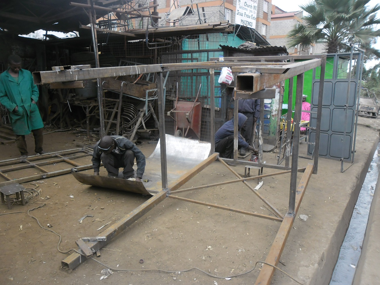 World Faith | 13 ft Water Tank Stand under construction (2)