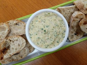 Smoked Mackerel Pate with French Bread and Horseradish