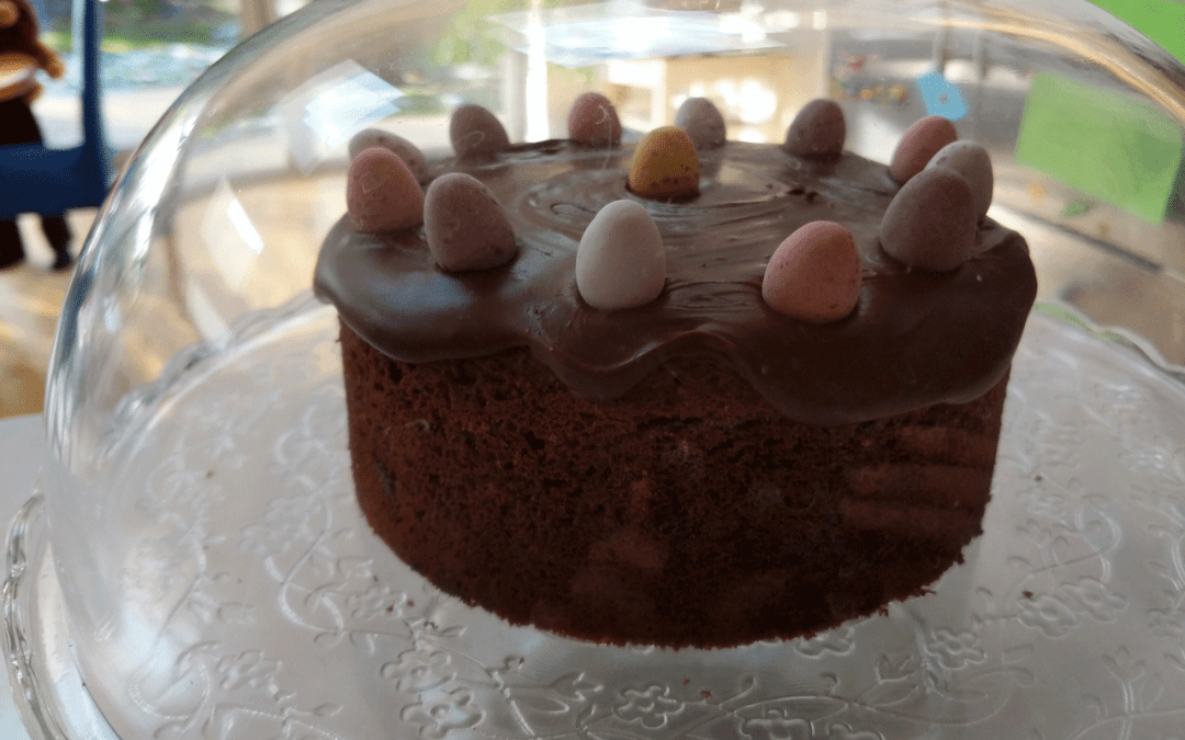 Chocolate twist on Simnel Cake