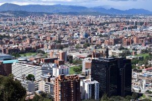 High above Bogota, Colombia.