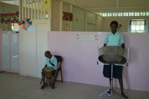We entered the St Benedict Orphanage with a greeting of music by the children. Photo: Tonya Fitzpatrick