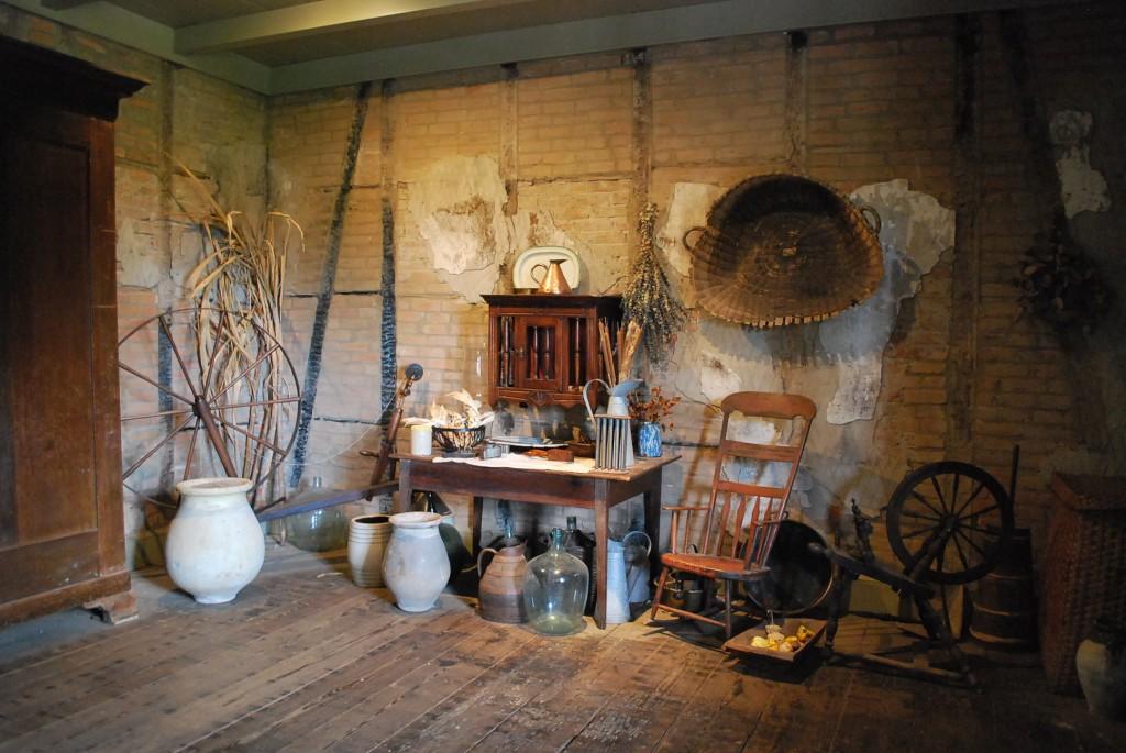 Slave quarters on Laura Plantation.