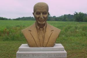 Bust of George Washington Carver.  Photo:  Tonya Fitzpatrick