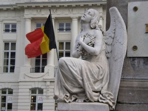 Angel and Belgium National Flag