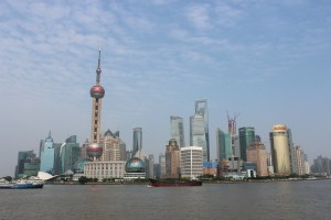 Along the bund in Shanghai