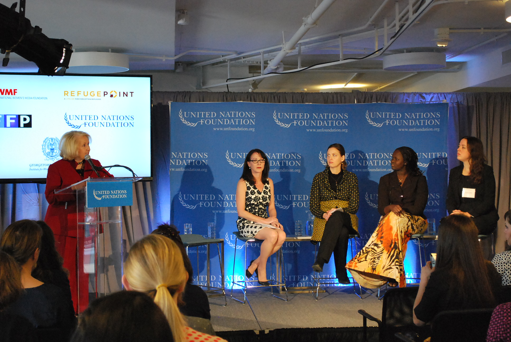 Panel sitting on the UN Foundation's Women in Fragile States event.