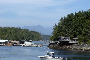 The fishing village of Tofino