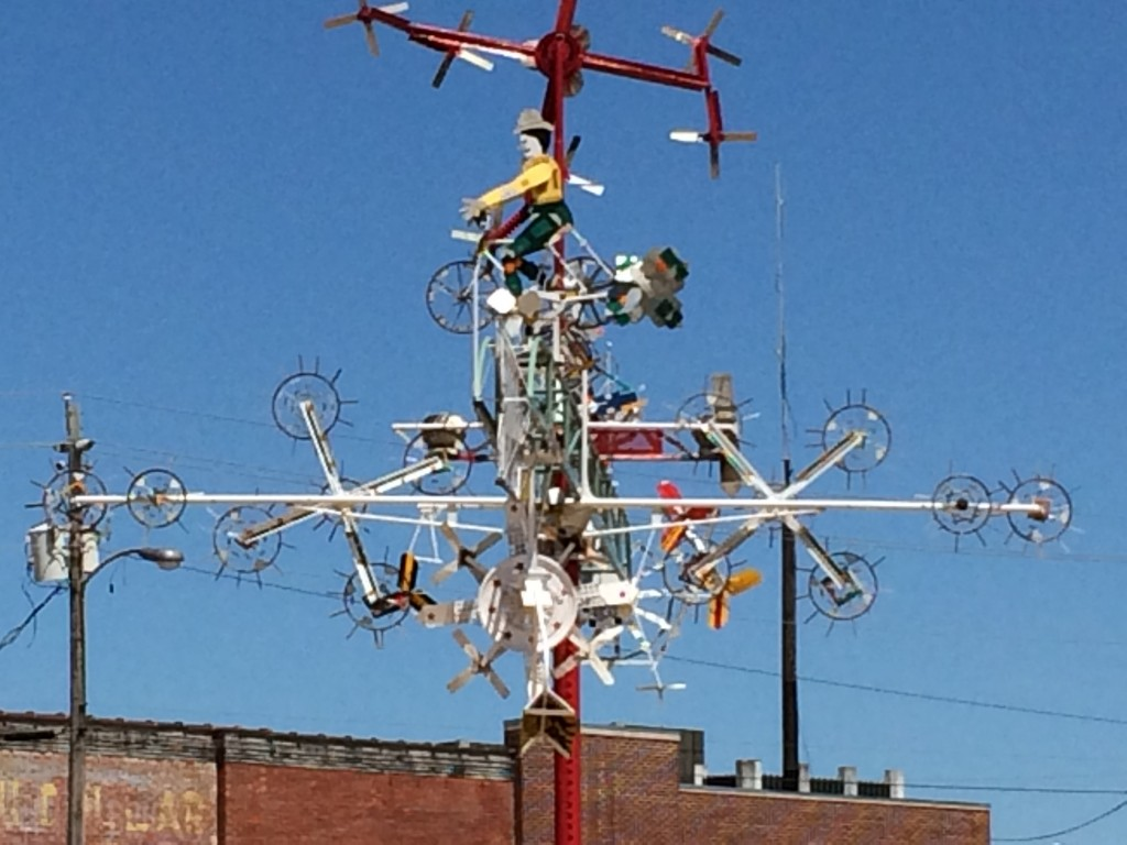 A whirligig from the Vollis Simpson Whirligig Park.  Photo:  Tonya Fitzpatrick