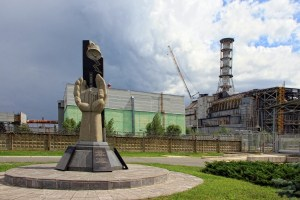 Monument in Pripyat