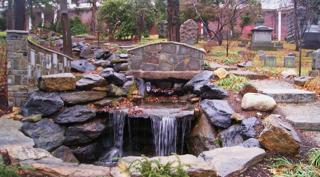 Woodlawn Cemetery Waterfall. Photo: Terry Ballard