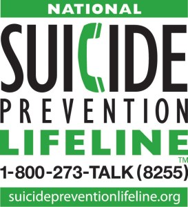 National Suicide Prevention Lifeline banner and number