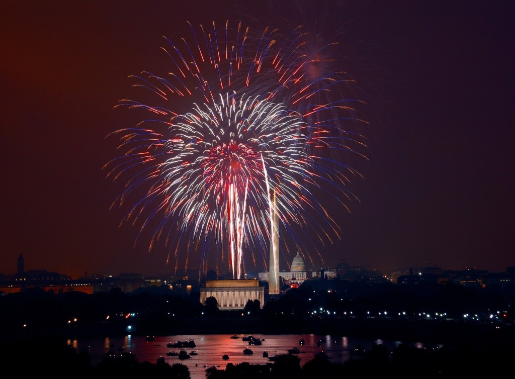 Fourth of July fireworks in Washington, DC
