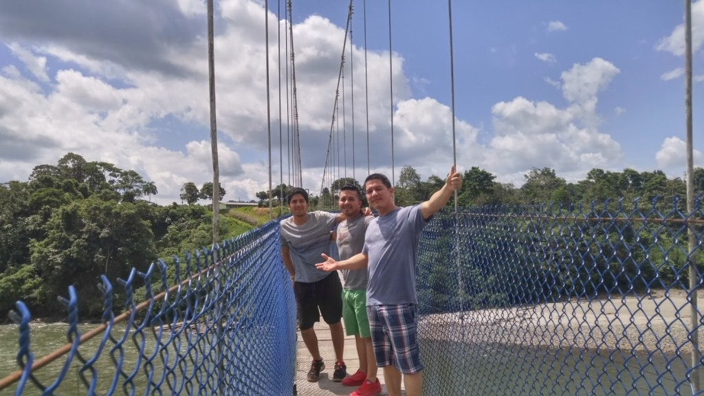 Ecuador suspension bridge.