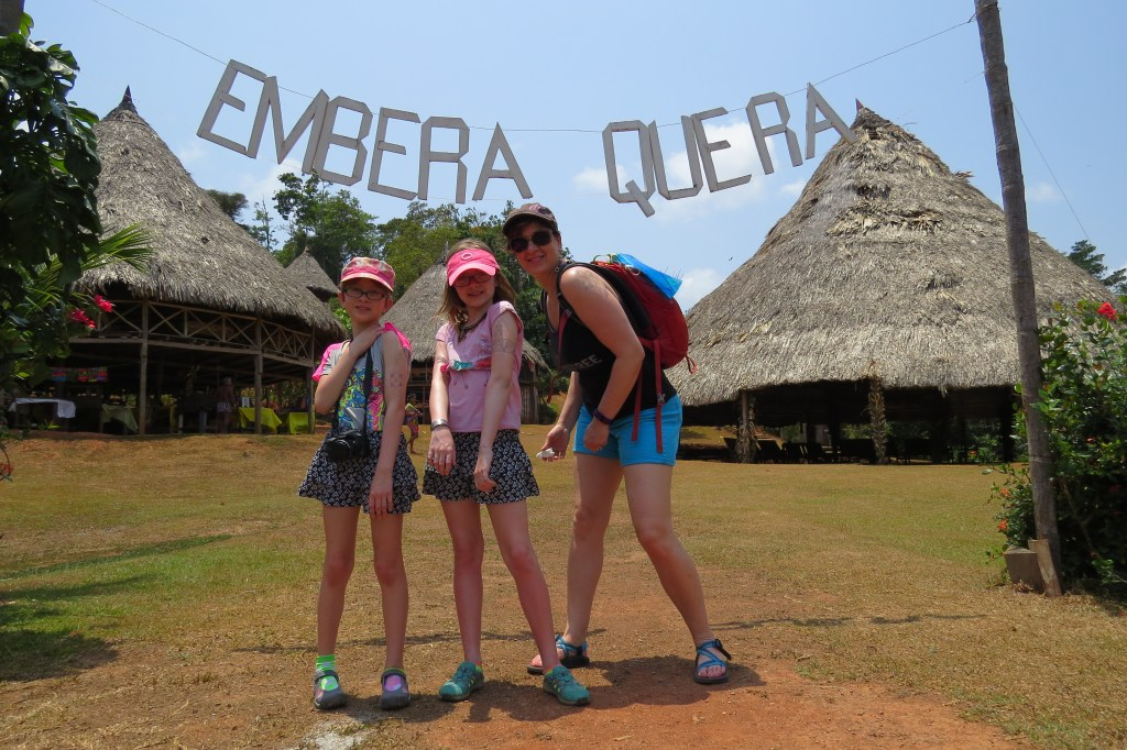 Entrance to Embera. Photo by Chez